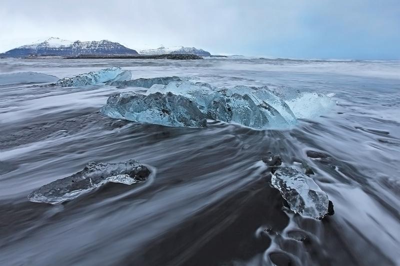 FotoTours IJsland 2015 - IJsmeer strand Pieter